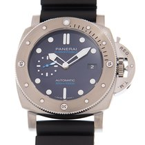 Panerai Luminor Submersible 1950 3 Days Automatic Titanio 47mm Azul Sin cifras