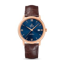 Omega De Ville Prestige Or rose 39.5mm Bleu