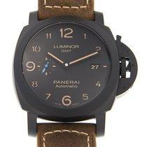 Panerai Luminor 1950 3 Days GMT Automatic Ceramic 44mm Black Arabic numerals