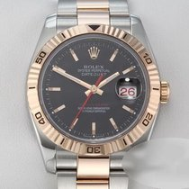 Rolex Datejust Turn-O-Graph Zlato/Zeljezo 36mm Crn