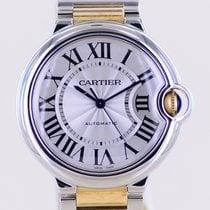 Cartier Ballon Bleu 36mm gebraucht 36mm Silber Gold/Stahl