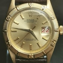 Rolex Yellow gold Automatic Gold No numerals 36mm pre-owned Datejust Turn-O-Graph