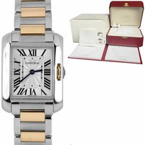 Cartier Tank Anglaise Gold/Steel 30mm Silver Roman numerals United States of America, New York, Massapequa Park