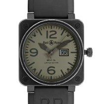 Bell & Ross BR 01-96 Grande Date подержанные 46mm Черный Дата Каучук