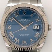 Rolex Datejust Steel 41mm Blue Roman numerals United States of America, New York, New York