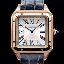 Cartier Santos Dumont Rose gold Silver Roman numerals United States of America, Massachusetts, Boston