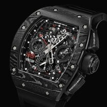 Richard Mille RM 011 Carbon 50mm Black No numerals