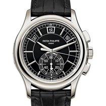 Patek Philippe Annual Calendar Chronograph Platinum 42mm Black No numerals United States of America, New York, New York