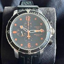 Tissot Seastar 1000 gebraucht Schwarz Chronograph Datum Kautschuk