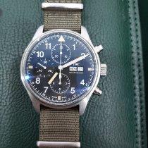 IWC Pilot Chronograph Steel Black Arabic numerals