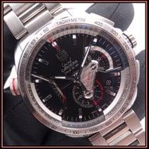 TAG Heuer Grand Carrera Steel 43mm Black No numerals