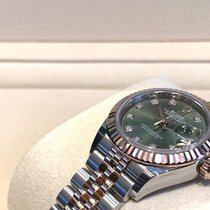 Rolex Lady-Datejust Золото/Cталь 28mm Зеленый