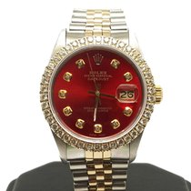 Rolex Datejust pre-owned 36mm Red Date Gold/Steel