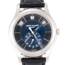 Patek Philippe Weißgold Automatik Blau 40mm neu Annual Calendar