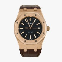 Audemars Piguet Red gold Automatic Black No numerals 39mm pre-owned Royal Oak Selfwinding