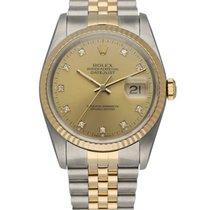 Rolex 16233 Yellow gold 1989 Datejust 36mm pre-owned United States of America, New York, New York