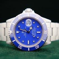 Rolex Submariner Date Steel 40mm Blue No numerals