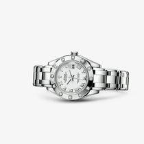 Rolex Lady-Datejust Pearlmaster Белое золото 29mm Белый Римские