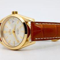Omega Желтое золото Автоподзавод Cеребро Без цифр 36mm подержанные Seamaster Aqua Terra