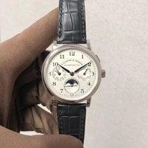 朗格 1815 白金 40mm 銀色 阿拉伯數字