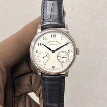 A. Lange & Söhne White gold Manual winding Silver Arabic numerals 39mm new 1815