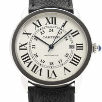 Cartier Ronde Croisière de Cartier Stahl 42mm Weiß