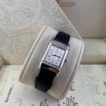 Jaeger-LeCoultre Reverso Lady pre-owned 20mm Silver Crocodile skin