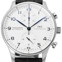 IWC Portuguese Chronograph IW371417 Хорошее Сталь 41mm Автоподзавод