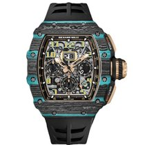 Richard Mille new Automatic 44mm Carbon Sapphire crystal