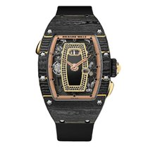 Richard Mille new Automatic 34mm Rose gold Sapphire crystal