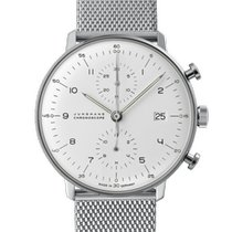 Junghans max bill Chronoscope Steel 40mm Silver Arabic numerals
