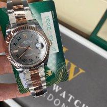 Rolex Datejust II Zlato/Zeljezo 41mm Siv Bez brojeva