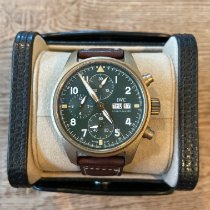 IWC Bronze Manual winding Green Arabic numerals 41mm pre-owned Pilot Spitfire Chronograph