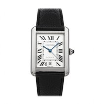 Cartier Tank Solo pre-owned 31mm Silver Leather