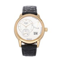 Glashütte Original Rose gold Manual winding Silver No numerals 39.4mm pre-owned PanoReserve