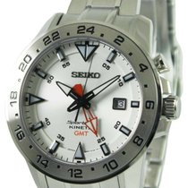 Seiko Sportura Steel 44.4mm White No numerals