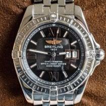 Breitling Galactic 41 pre-owned 41mm Black Date Steel