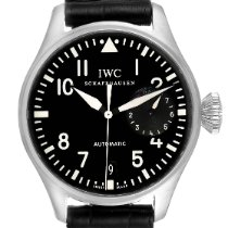 IWC Steel Automatic Black Arabic numerals 46.2mm pre-owned Big Pilot