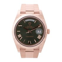 Rolex Day-Date 40 Oro rosa 40mm Verde Romanos
