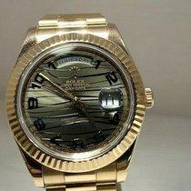 Rolex Day-Date II Růžové zlato 41mm Hnědá