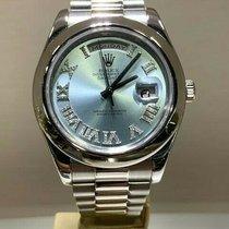 Rolex Day-Date II Platinum 41mm Blue Roman numerals United States of America, California, Newport Beach