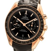 Omega Oro rosa Automático Negro Sin cifras usados Speedmaster Professional Moonwatch