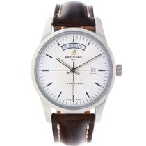 Breitling Transocean Day & Date Staal 43mm Wit Nederland, Klaaswaal