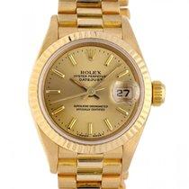 Rolex Lady-Datejust Gelbgold 26mm Gelb Keine Ziffern Schweiz, Lugano