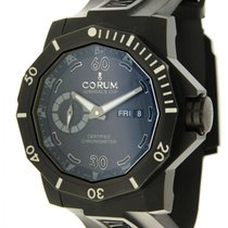 Corum Admiral's Cup Seafender Deep Hull pre-owned Black Date Rubber