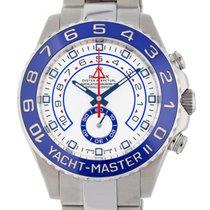 Rolex Yacht-Master II Stahl 44mm Weiß Keine Ziffern Schweiz, Lugano