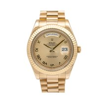 Rolex Day-Date II Žluté zlato 41mm Zlatá Římské