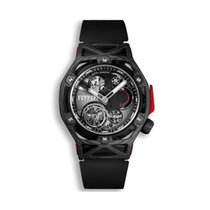 Hublot Techframe Ferrari Tourbillon Chronograph Carbon 45mm Black