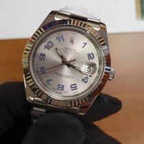Rolex Datejust II Zeljezo 41mm Srebro Bez brojeva