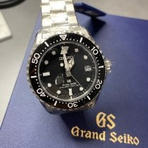 Seiko Grand Seiko Steel 44.2mm Black No numerals
